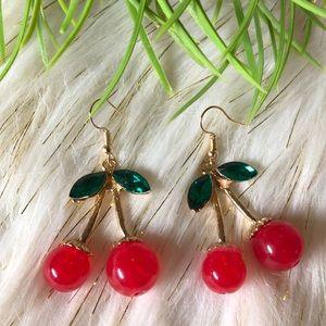 Cherry dangling earrings   New!